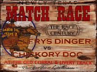 Vintage Horse Race Signs - Custom Rustic Western Wooden Sign
