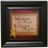 Merry Days And Silent Nights - Framed Chirstmas Wall Decor