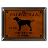 Personalized Wood Cabin Signs - Labrador Dog Sign