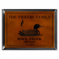 Personalized Wood Cabin Signs - Loon Sign