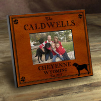 Personalized Wood Picture Frames - Labrador Dog Motif