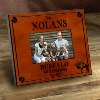 Personalized Wood Picture Frames - Moose Motif