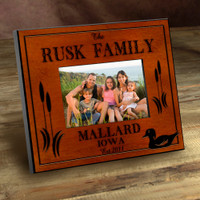 Personalized Wood Picture Frames - Mallard Duck Lake Motif