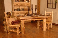 Summit Peak Rustic Log Dining Table