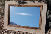 Rustic Mirror - Cabin Mirror with Deep Alder Stepped Molding
