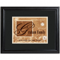 Personalized Family Names and Initial Framed Print - Chocolate Brown