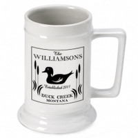 Personalized Wood Duck Stein