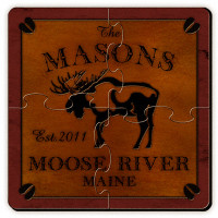 Personalized Moose Coaster Puzzle