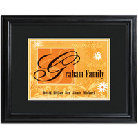 Personalized Family Names and Initial Framed Print - Spice