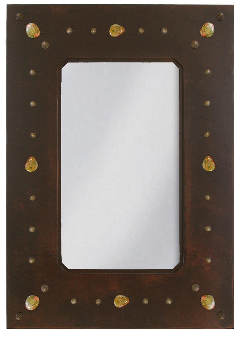 Iron Stone Amp Nail Rustic Wall Mirror 36 Quot