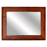 Wooden Mirror - Cherry Wood Stained Mirror - Mapleton Style