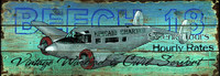 Beech 18 - Vintage Airplane Sign