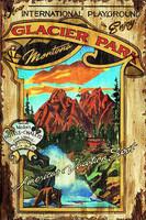 Vintage Signs - Glacier Park Nostalgic Advertising Sign