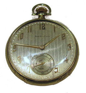14K 23 jewel Hamilton pocket watch