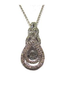 Dancing Diamond in 14K white gold