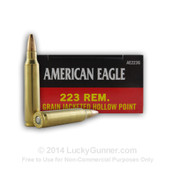 223 Rem - 50 gr JHP - Federal American Eagle - 500 Rounds