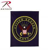 Rothco Navy Insignia Fleece Blankets