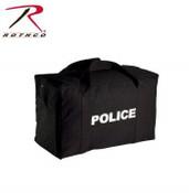 Rothco Canvas Large Police Logo Gear Bag Black