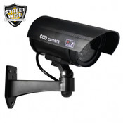 "Streetwise 5"" IR Dummy Camera in Circular Outdoor Housing w/ light - Black"