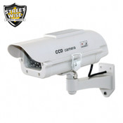 "Streetwise 7"" Dummy Camera in Outdoor Housing w/ Solar Powered light"