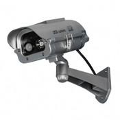 "Streetwise 7"" IR Dummy Camera in Outdoor Housing w/ solar powered motion strobe light - Silver"