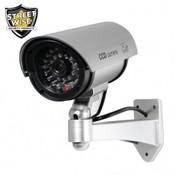 "Streetwise 5"" IR Dummy Camera in Circular Outdoor Housing w/ light - Silver"