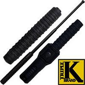 "Triple K 21"" Black Expandable Metal Baton"