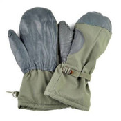 German Army Issue Goretex, Faux Fur Lined Snow Mitts