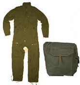 Canadian Forces Coveralls, Un-issued 70-44 & Gas Mask Bag.