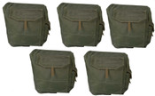 5 x Canadian Military Issue Web Gas Mask Bag