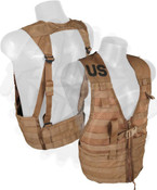 USMC Molle Vest in Coyote Brown - Used