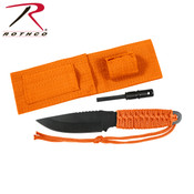 Rothco Paracord Knife With Fire Starter - Orange