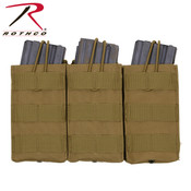 Rothco MOLLE Open Top Triple Mag Pouch - Coyote Brown