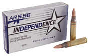 Independence 5.56 55gr Full Metal Jacket Boat Tail 500rds