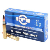 PPU 8mm Mauser 196gr SP 200rds