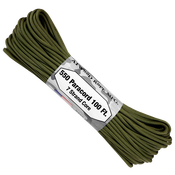 Atwood Rope 550 Paracord 100FT. 7 Strand Core - OD Green
