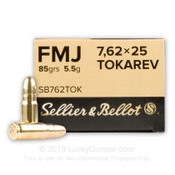 Sellier & Bellot 7.62x25 FMJ 85gr - 450rds