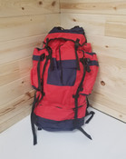 Canadian Government Surplus (Unissued) Hiking Backpack - Red w/Blue & Black Trim