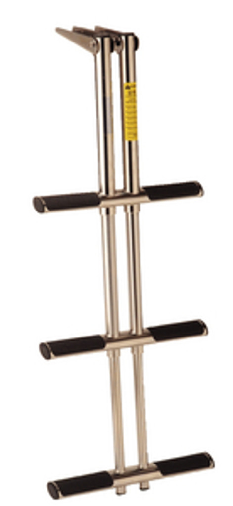 Garelick 3 Step Telescoping Stainless Steel Over Platform Ladder