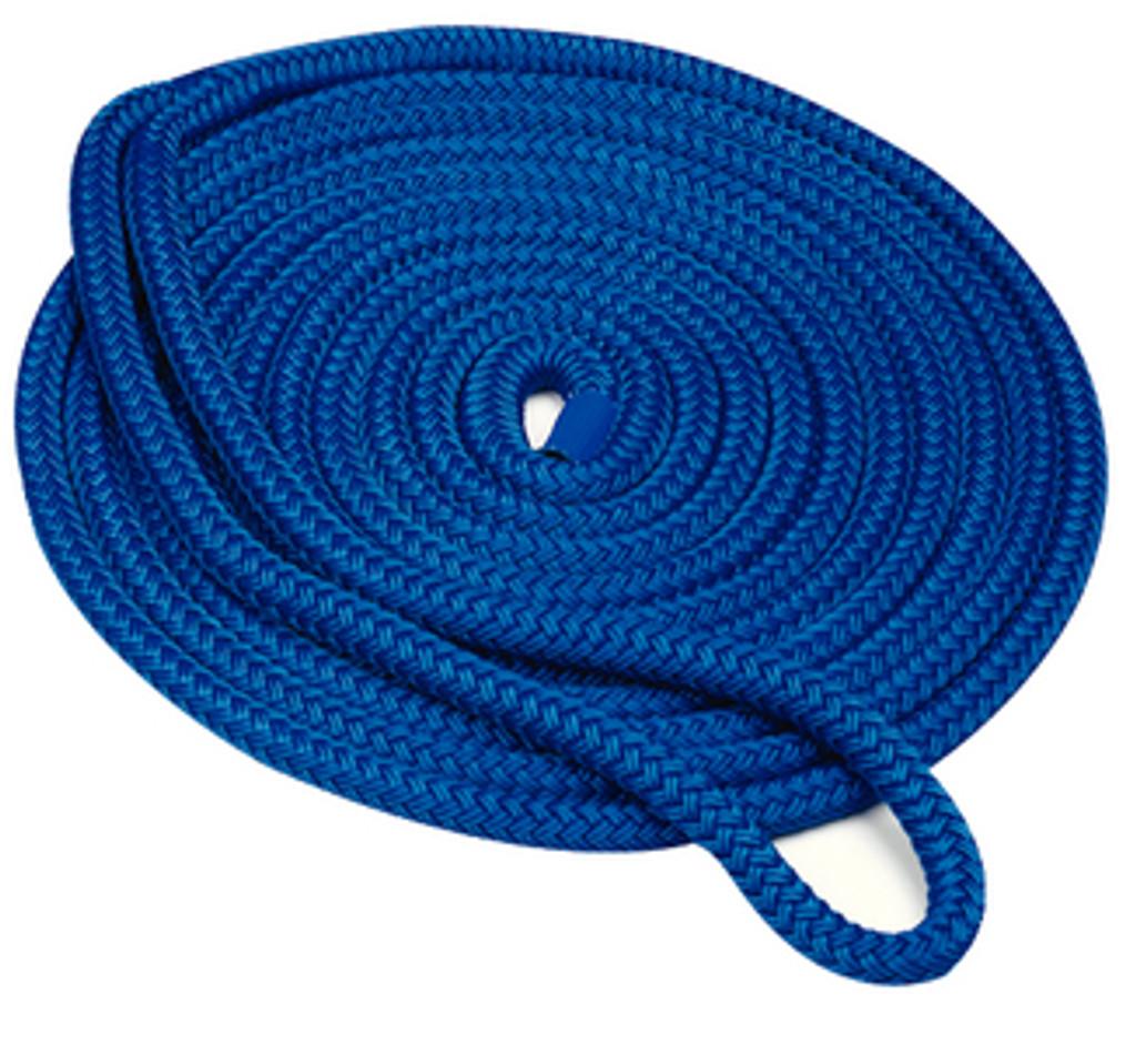 """Seachoice Double Braid Dock Line Blue 3/8""""X20'"""