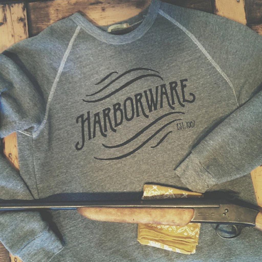HarborWare Vintage Logo Fleece Sweatshirt, Grey