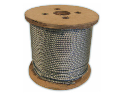 HarborWare Galvanized Steel Cable, 1/4-inch 250'