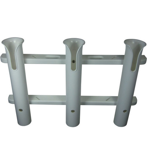 TACO Metals 3-Rod White PVC Deluxe Fishing Rod Rack