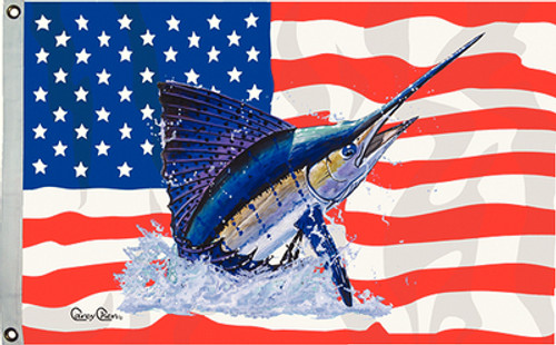 Taylor Made Flag US/Sailfish 16X24