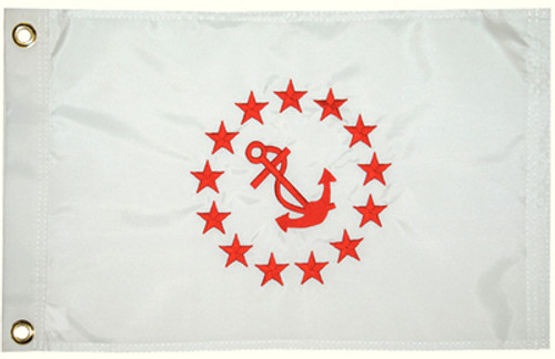 """Taylor Made Flag 12"""" x 18"""" Rear Commodore"""