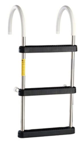 Garelick 3 Step Stainless Steel Gunwale Hook Ladder