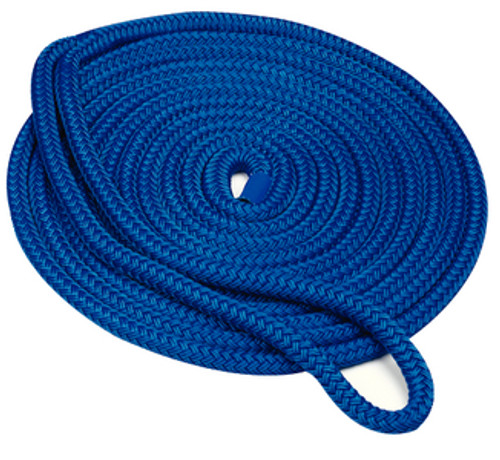 "Seachoice Double Braid Dock Line Blue 1/2""X15'"