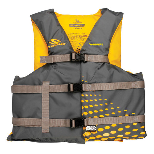 Stearns Adult Universal Boat Vest, Grey/Gold