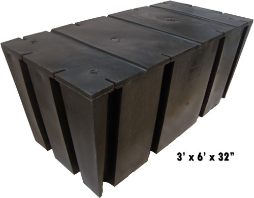 "HarborWare 3' x 6' x 32"" Dock Float Drums, 2419lbs"