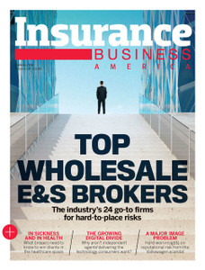 2016 Insurance Business Top Wholesale E&S Brokers (soft copy only)